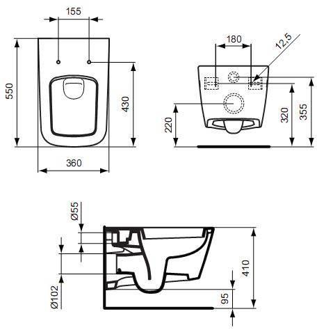 ideal standard simply u muszla wisz ca j452101. Black Bedroom Furniture Sets. Home Design Ideas