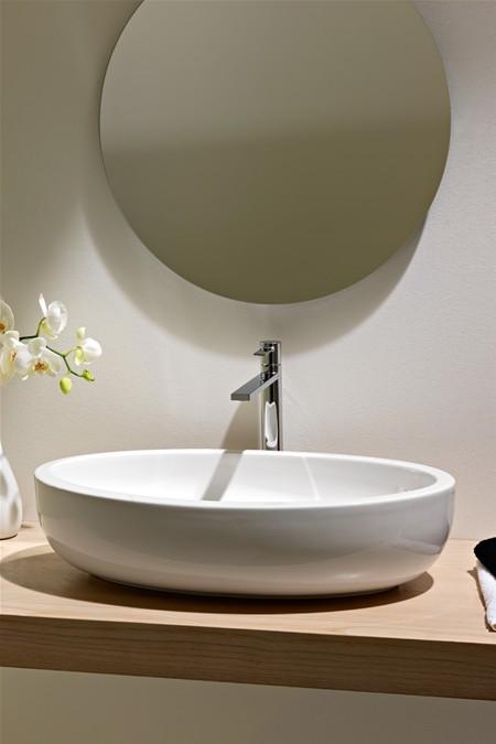 Scarabeo planet umywalka owalna nablatowa 66x39 8111 - Mobili bagno con lavabo appoggio ...