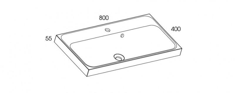 Znalezione obrazy dla zapytania umywalka kwadro 80 wymiar